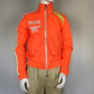 MCM Man Bomber Jackets Orange Color Print Logo DM6